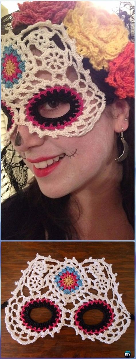 Crochet Skull Ideas Free Patterns | Feliz dia de, Patrón de ...