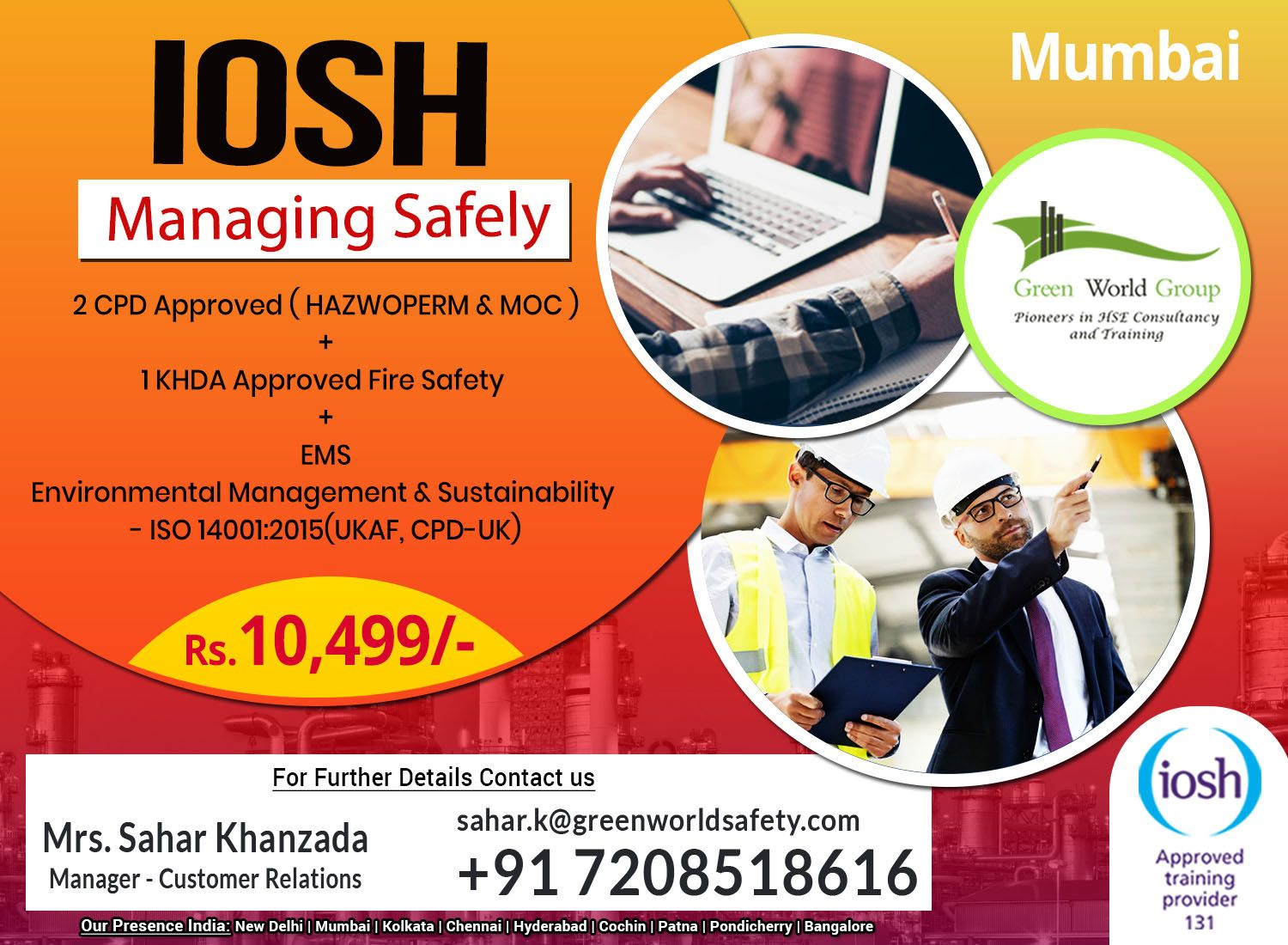 Join iosh ms course in mumbai get a free hse course