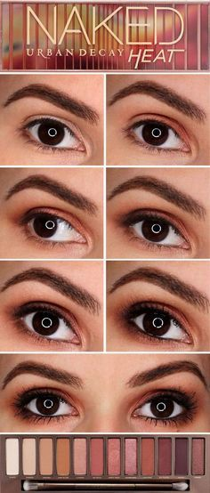 Naked Eyes Neutral Eyeshadow Guide: Honest Look At The Urban Decay Naked Heat Palette