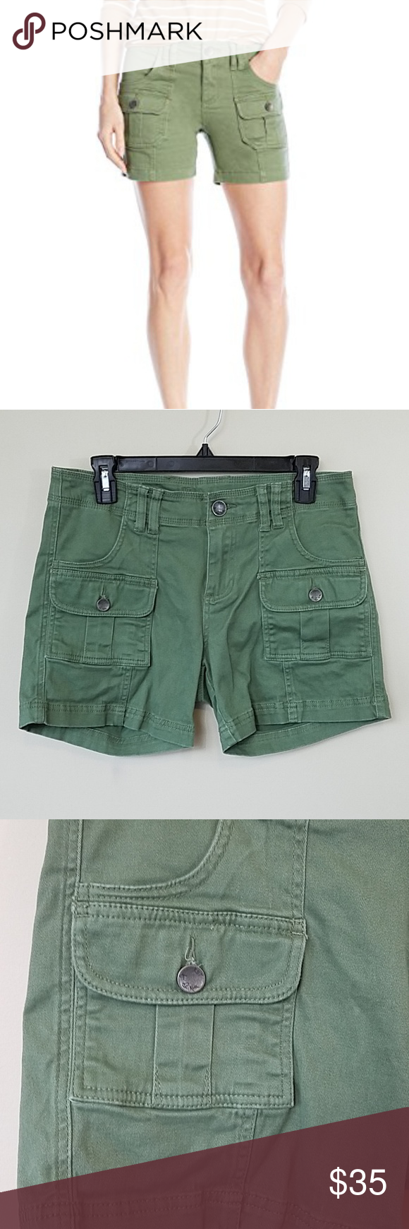 0f7cd6b268 Kut From The Kloth Elliott Cargo Shorts Kut from the Kloth Elliott Cargo  Shorts from Stitch Fix. Size 4. These are a great neutral olive green color  with ...