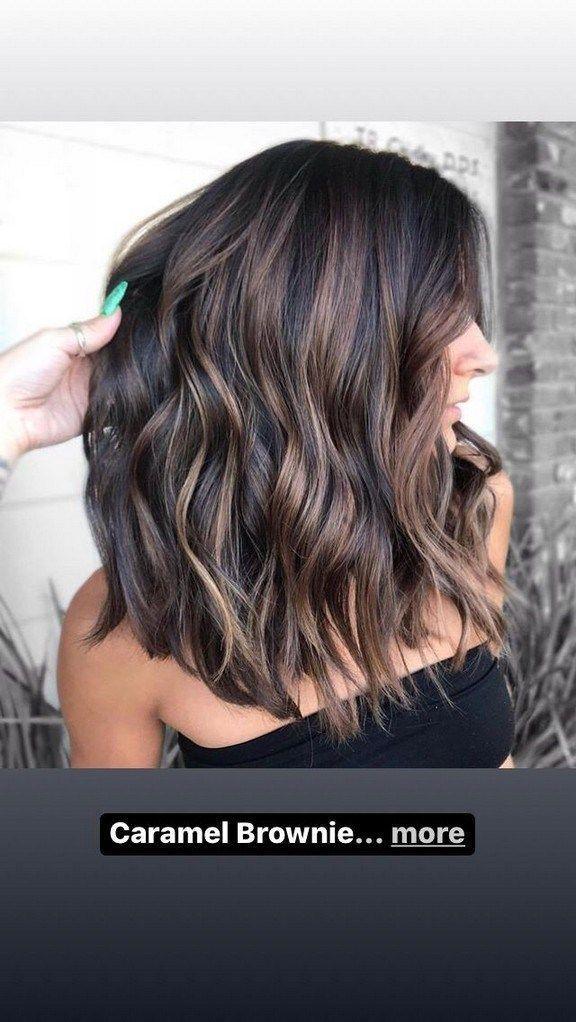 60 looks avec des reflets caramel sur les cheveux bruns et brun foncé 34 ~ prenghome.com …