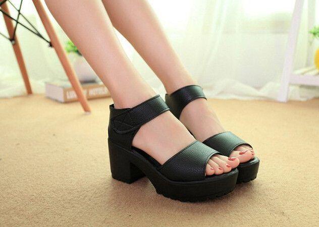 e6723739b56 Platform Thick Heel Summer Sandals
