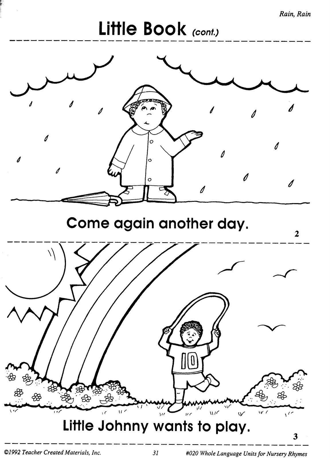 Rain Rain Go Away Come Again Another Day Little Johnny