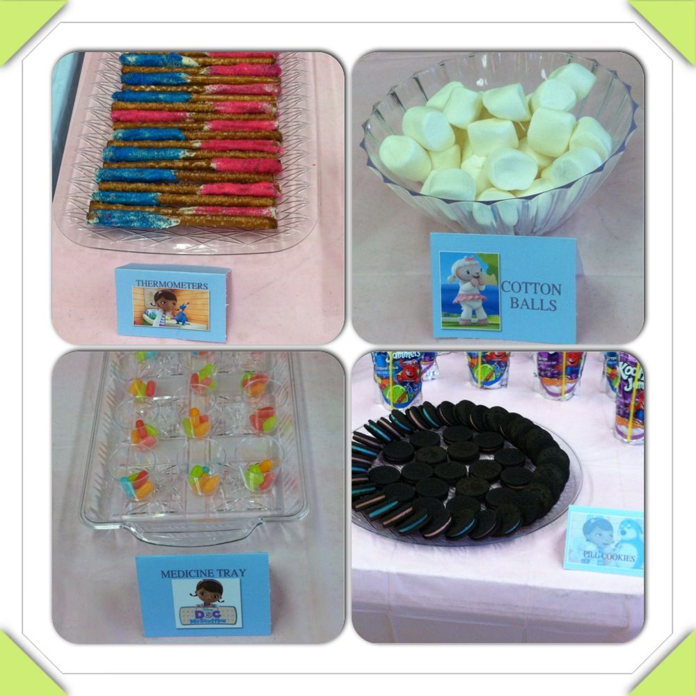Doc McStuffins Inspired Party Snacks With Labels. Want One
