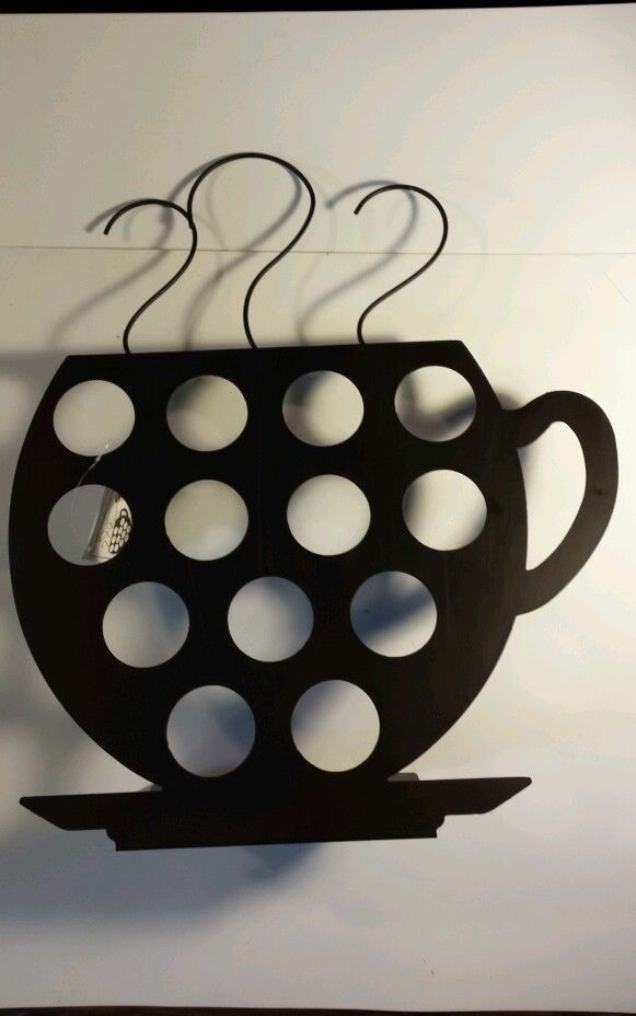Coffee Pod Holder Metal Steaming Cup Decorative Holds 13 Flavors K In Home Garden Ebay