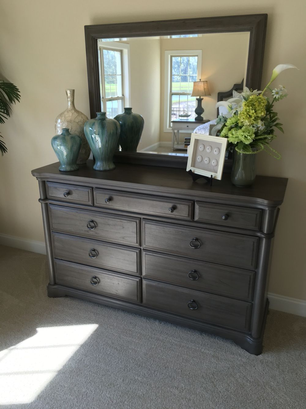 How To Stage A Dresser Dresser Top Decor Dresser Decor Bedroom