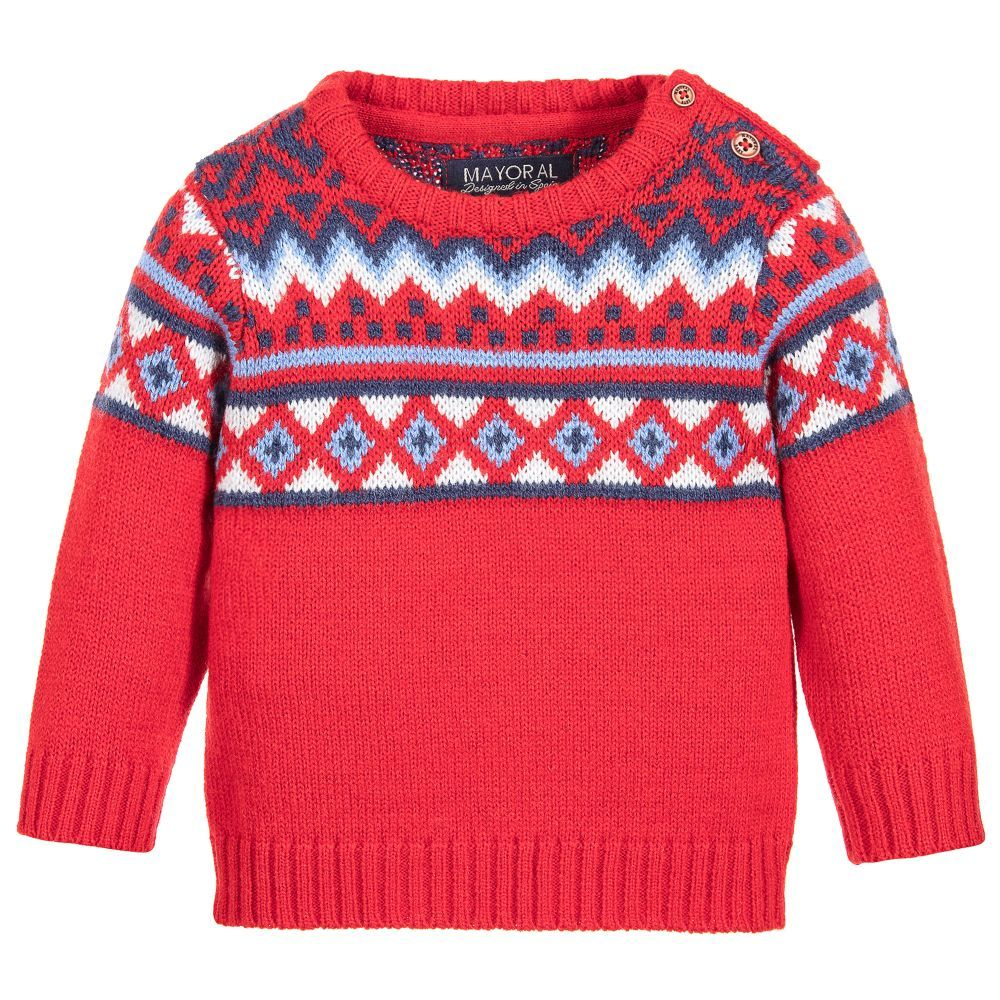 Boys Red Fair Isle Sweater | Fair isles, Kids online and Boys
