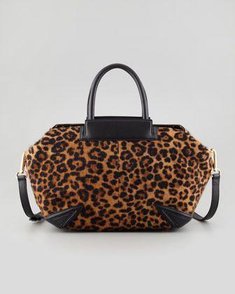 9f8c5ac72cec Brian Atwood Sophia Leopard-Print Calf Hair Satchel Bag on shopstyle.com