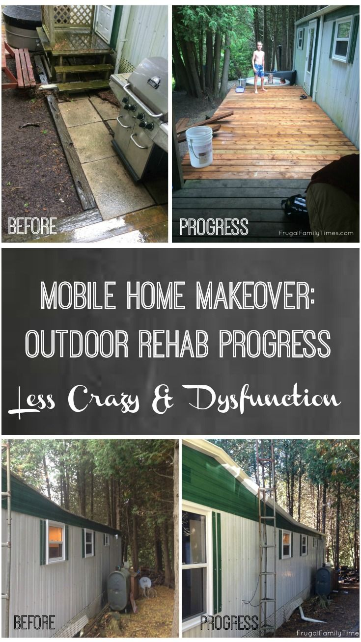Mobile Home Makeover: Outdoor Rehab Progress = less crazy