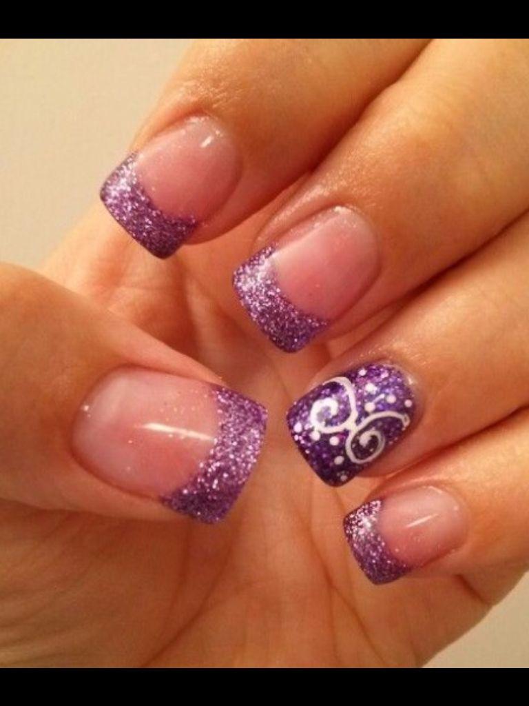 Purple Nails   nail   Pinterest   Purple nail, Manicure and Pedi