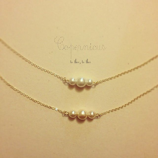 copernicus /2wayチェコパールのネックレス by saki アクセサリー ネックレス