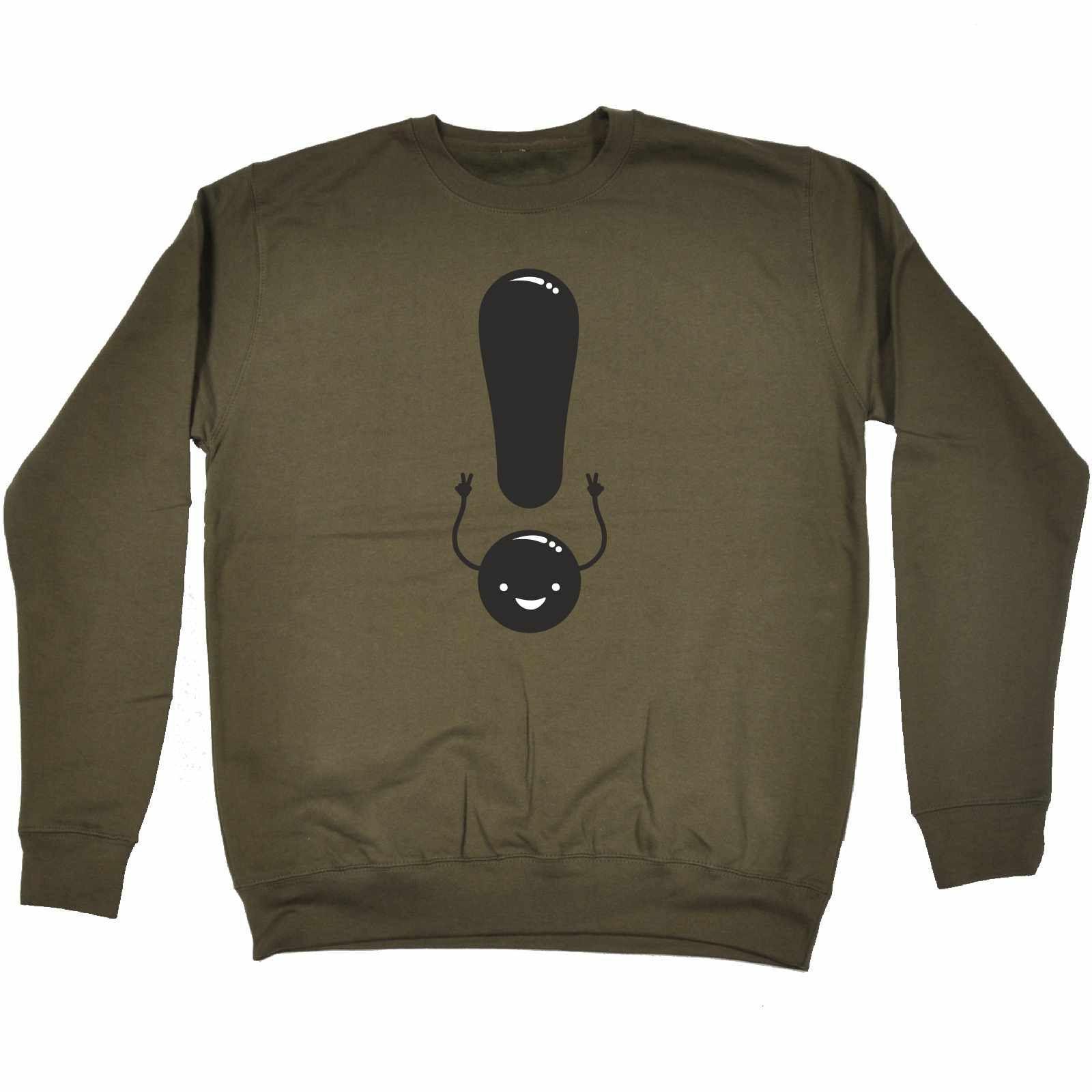 123t USA Exclamation Mark Smiley Peace Design Funny Sweatshirt