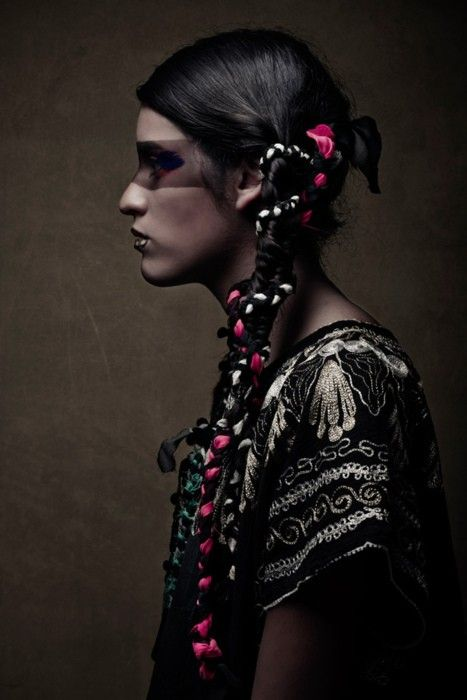 i love to intertwine fabric into braided hair...