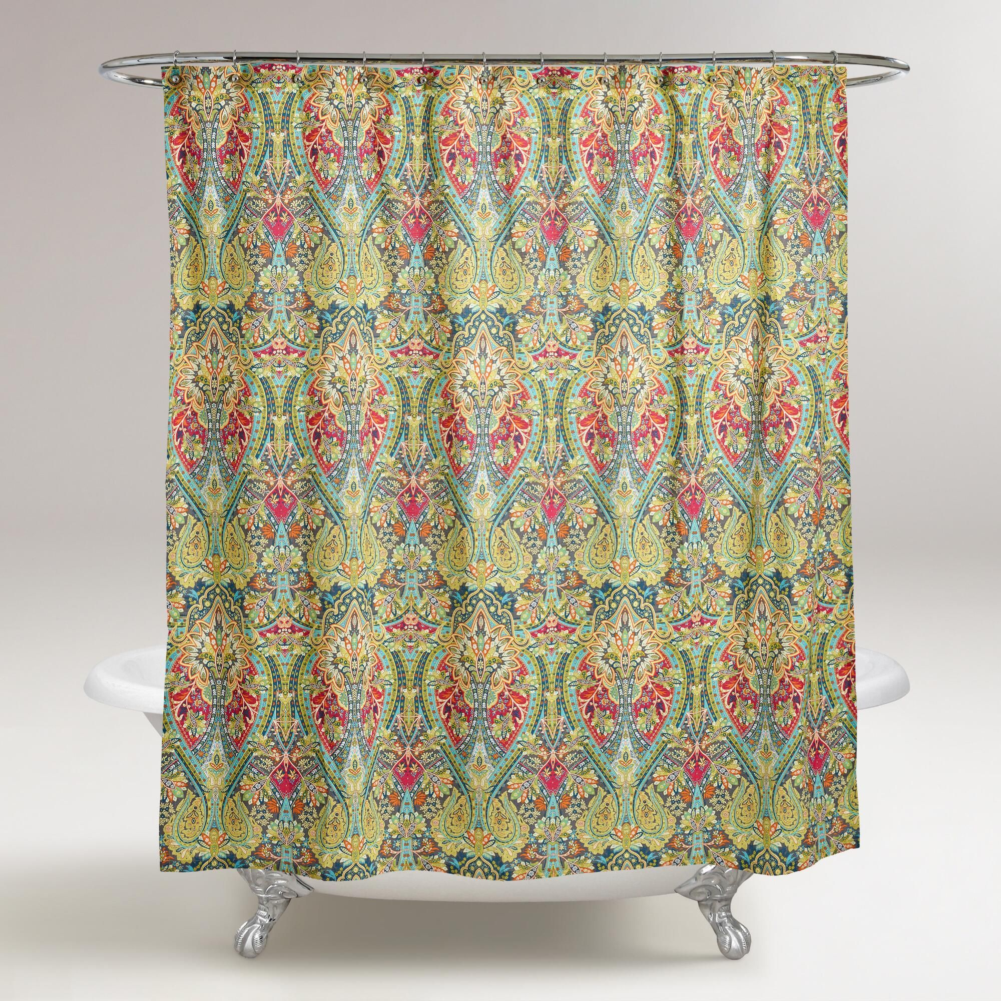 Alessia Shower Curtain | Paisley design, Bath and Room