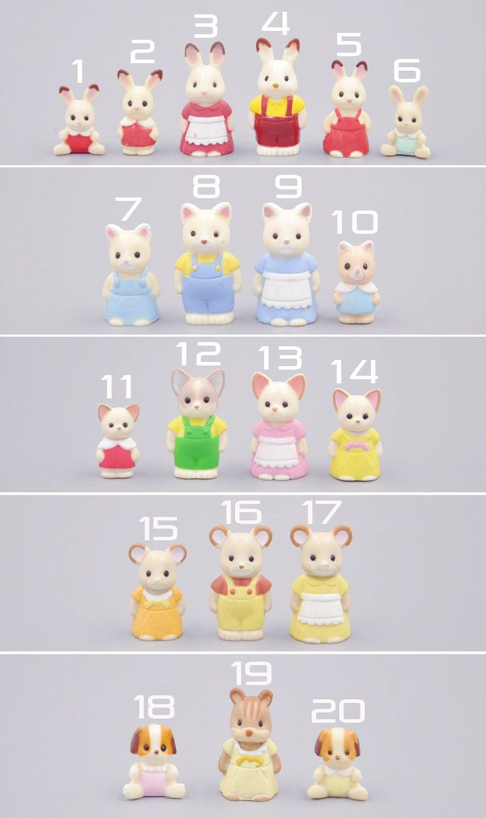 Wholesale Japan Original Bulks Sylvanian Families Cute Cats Rabbits Dolls Toys For Girls Birthday Christma Kids Toy Gifts Calico Critters Families Rabbit Dolls