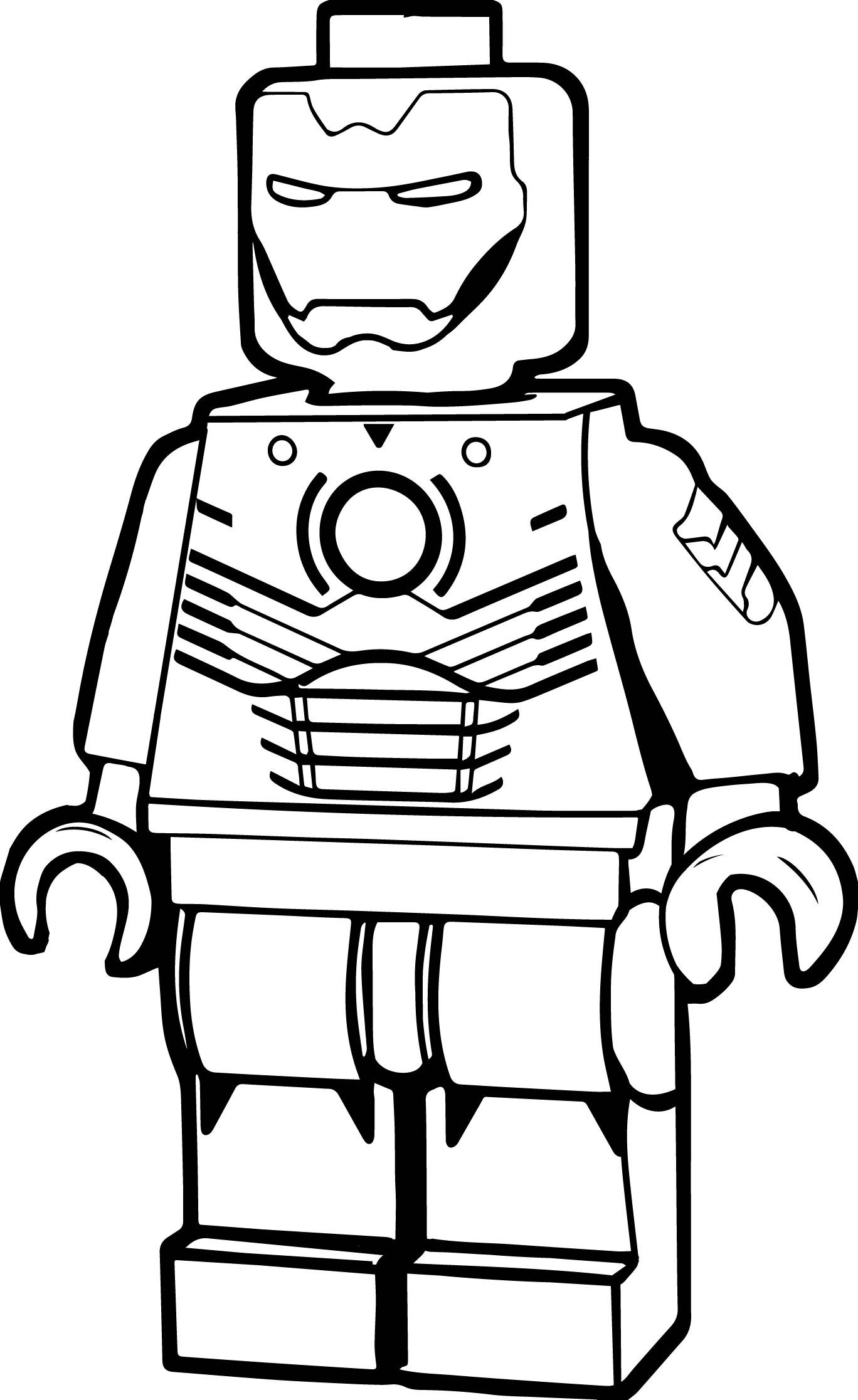 Lego Iron Man Coloring Page