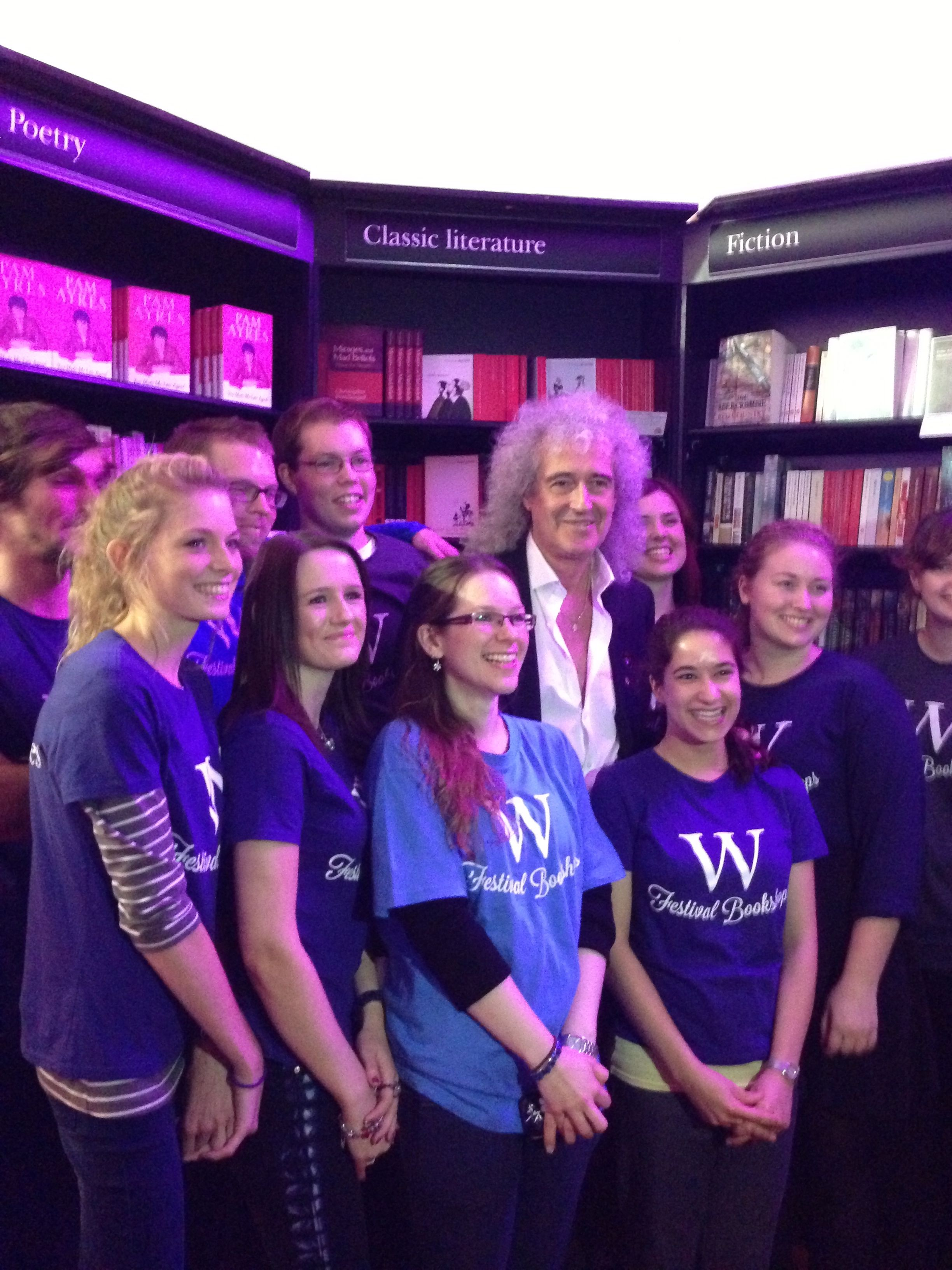 Brian may makes the waterstones teams day