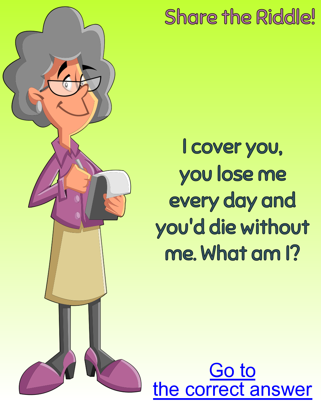 Perfect cover What am I? Funny riddles with answers