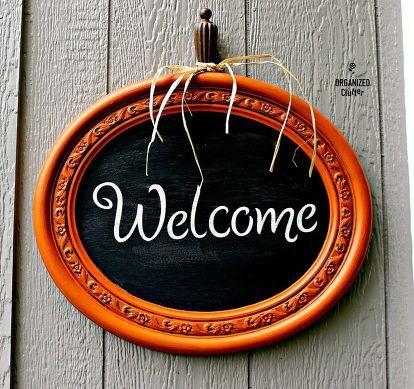 rummage sale mirror to pumpkin welcome chalkboard sign Crafts