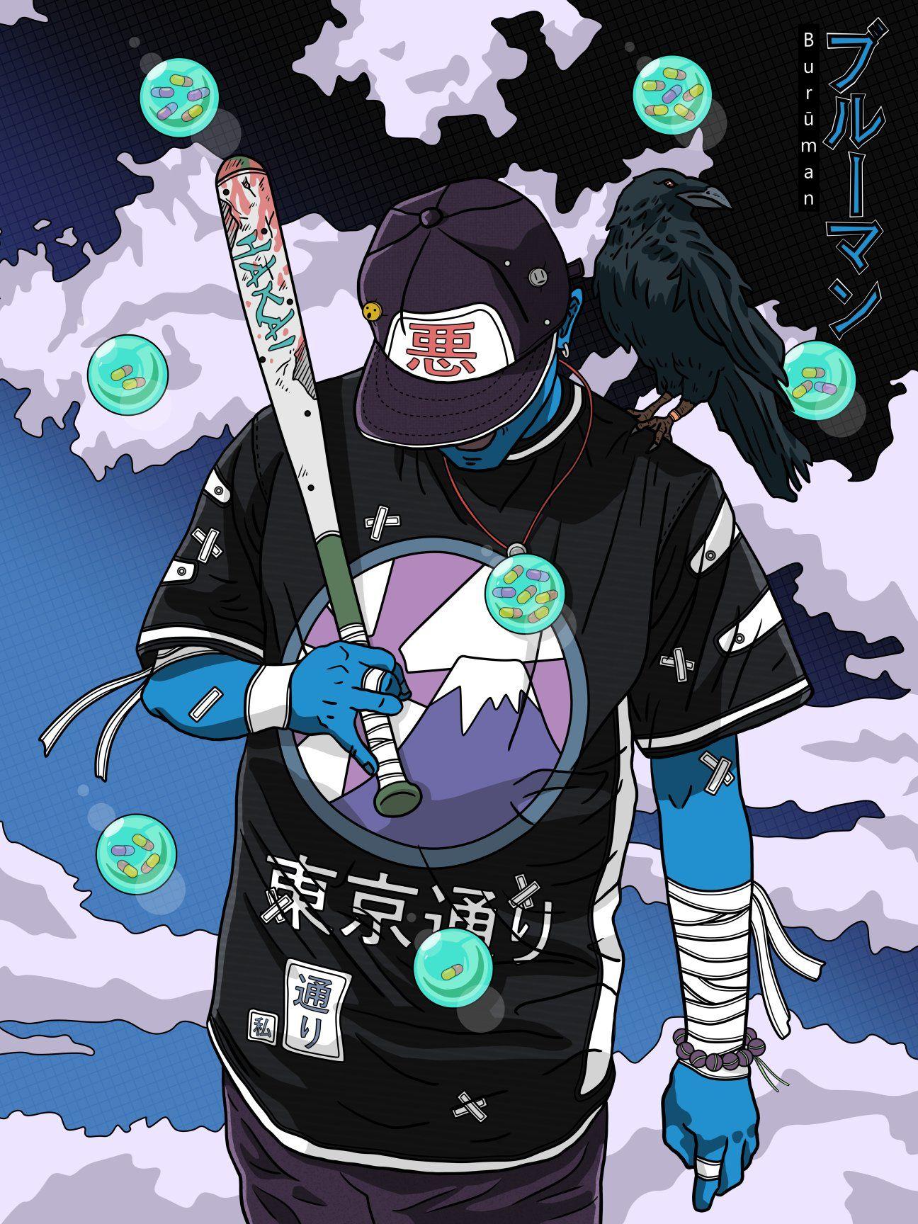 Street baseball player 🈂(Burūman series) 🔵 Samurai art