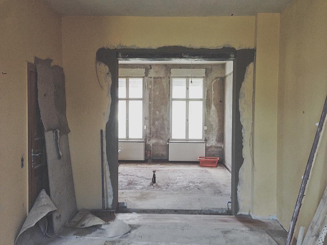 Der Durchbruch Man Sieht Den Blick Vom Esszimmer Ins