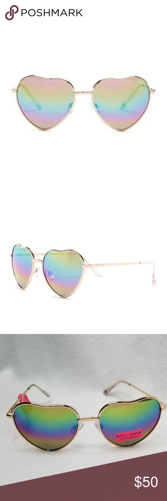 c84a3132e Betsey Johnson Heart Shaped Sunglasses Adorable, Cute and Rediculously Fun Betsey  Johnson Sunglasses New With Tags! Betsey Johnson Accessories Sunglasses