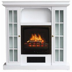 Stonegate® White Storage Mantle Electric Fireplace   Big Lots Electric  Fireplace