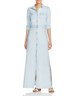 d0e32434bd MICHAEL Michael Kors Chambray Maxi Shirt Dress