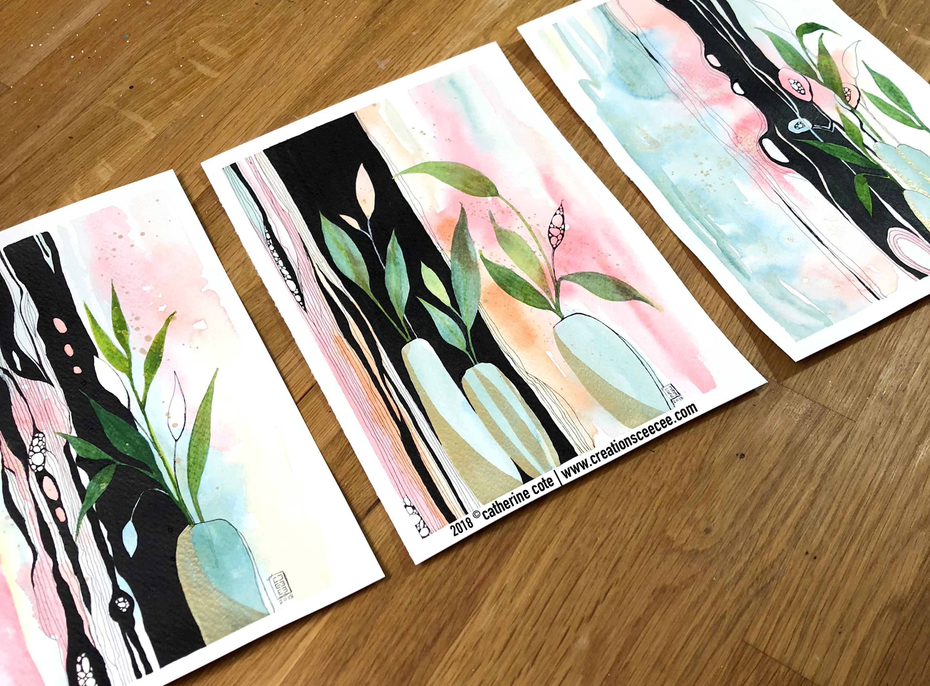 Creations Ceecee Is Creating Watercolor Paintings Acrylic