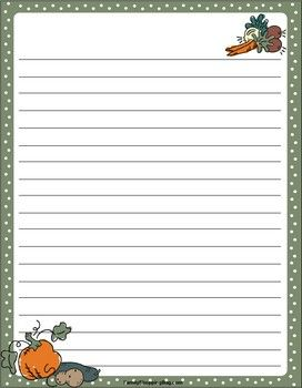 Fall Harvest Stationery Paper Template Free Printable Thanksgiving Writing Paper Paper Template Free