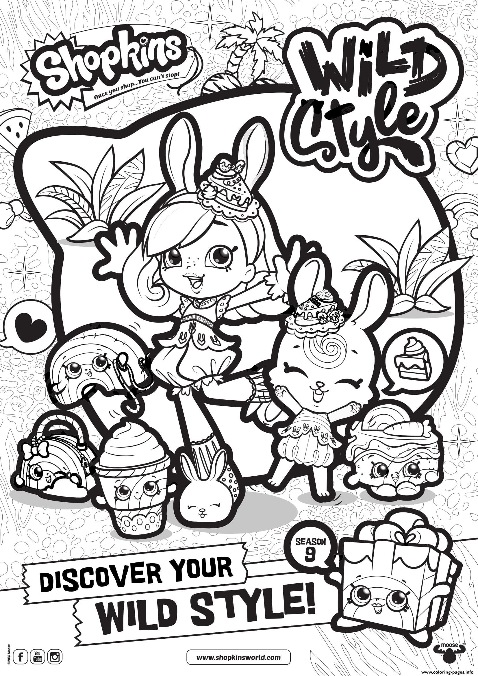 Print Shopkins Season 9 Wild Style 6 Coloring Pages Shopkin
