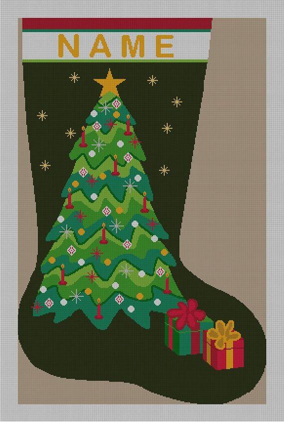 Beautiful needlepoint Christmas stocking   shopstyleit/l/fYOd