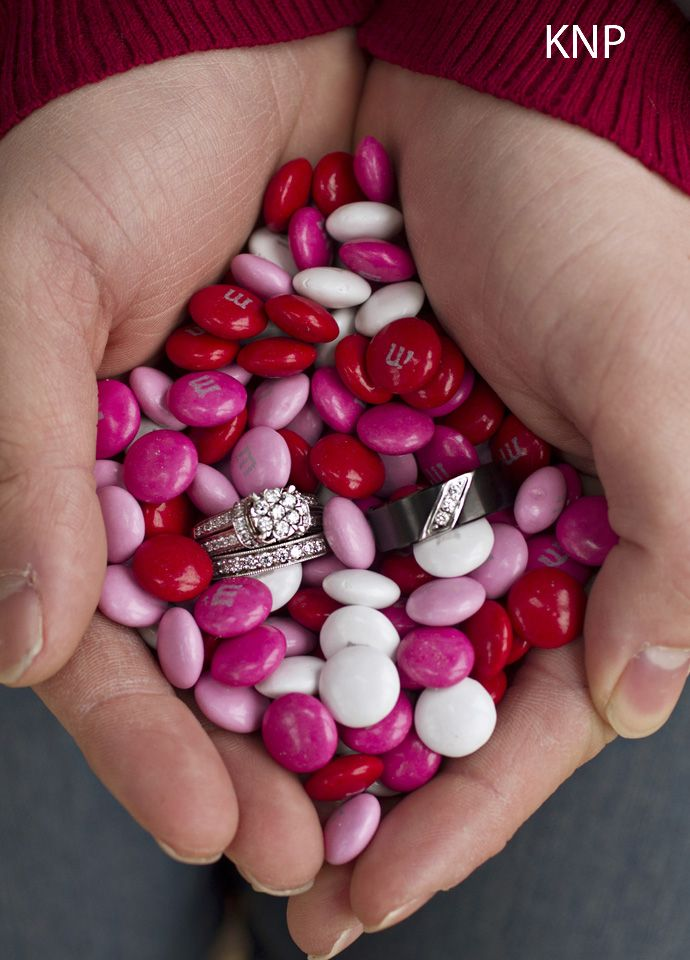 Rings and m and m's : )    www.kaitlinnoelphotography.com  www.facebook.com/kaitlinnoelphotography