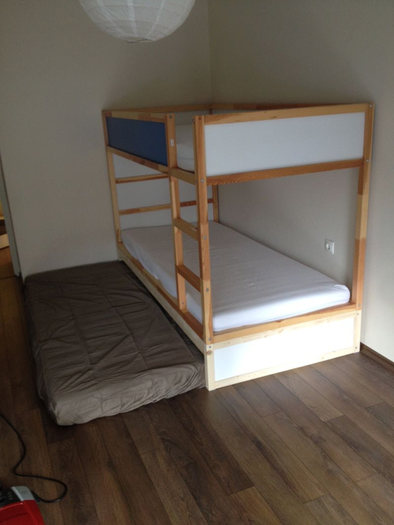 ikea kura double bunk bed extra hidden bed sleeps 3 ikea