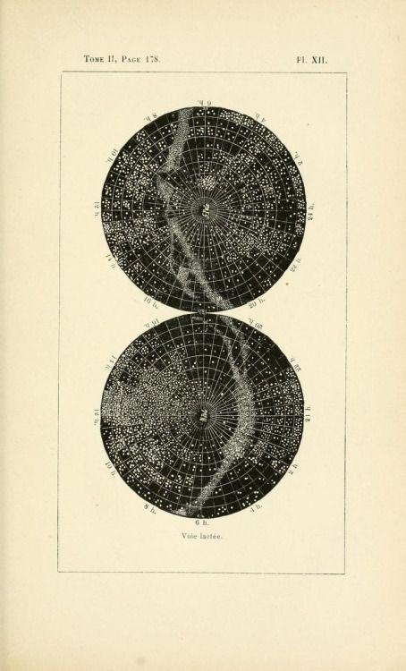 Plate XII. Voie Lactée. Milky Way. 1895 edition.