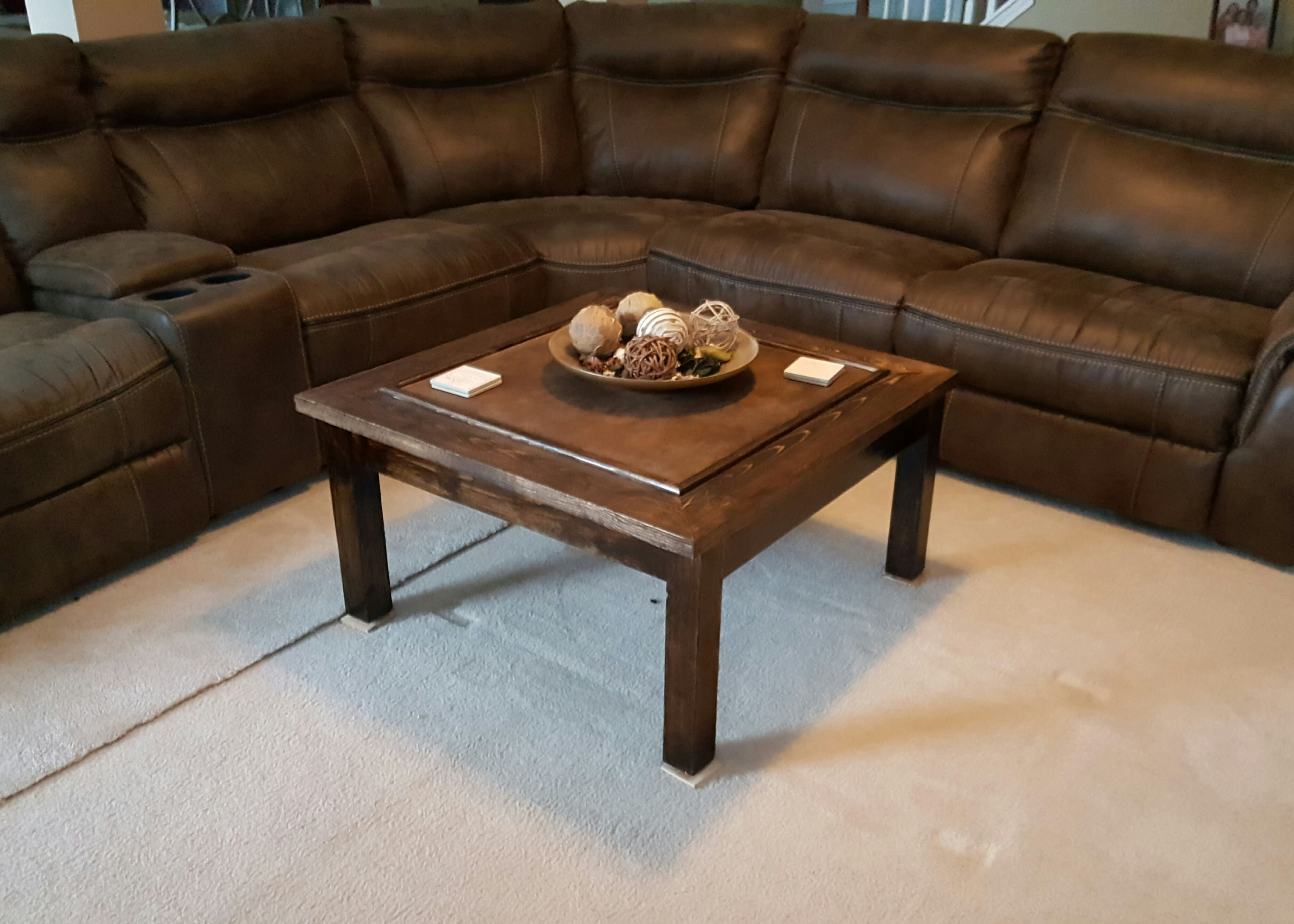 Fabric Inlay Pallet Coffee Table