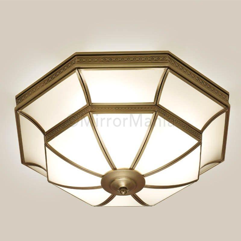 Balfour Art Deco Flush Fitting Ceiling Light - Ceiling Lamps - Lighting - Home Decor