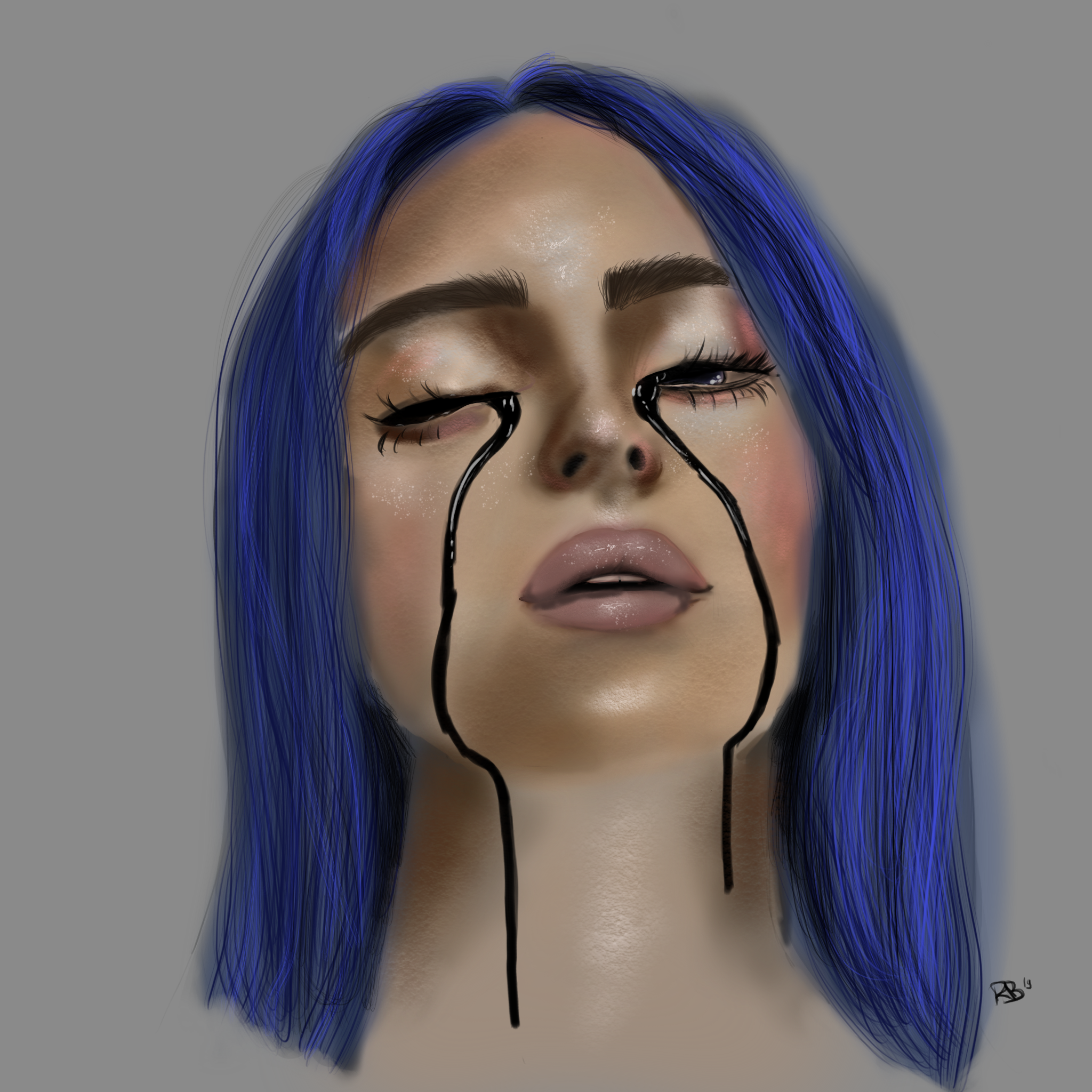 Billie Eilish Procreate Drawing Beginner When The Party Is Over
