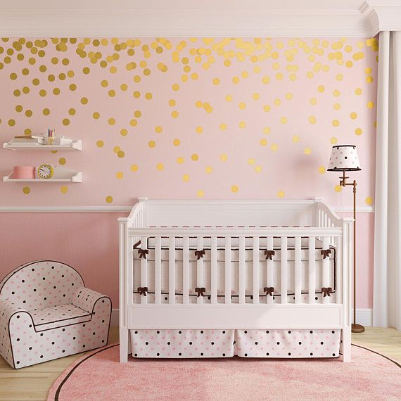 Gold Dot Wall Decals Metallic Gold Polka Dots Gold Wall Gold Dot