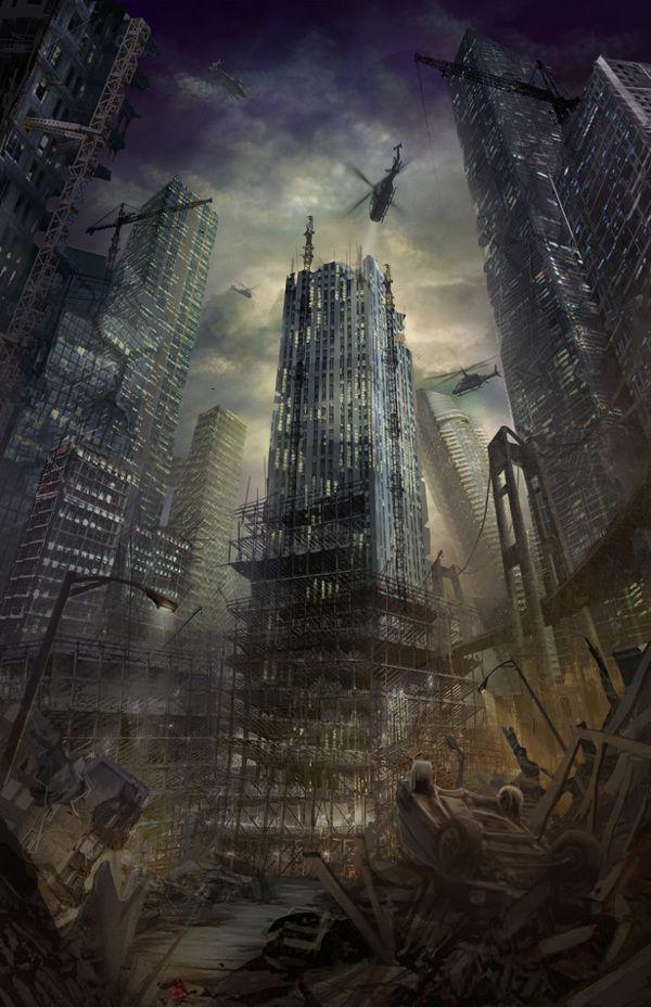 Contemporary Dystopia Post Apocalyptic City Apocalypse Landscape Post Apocalyptic Art