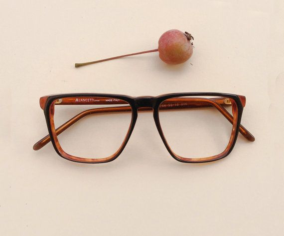 Lancetti Vintage Frames Back And Brown Eyeglasses Italian Etsy Vintage Frames Vintage Glasses Frames Vintage