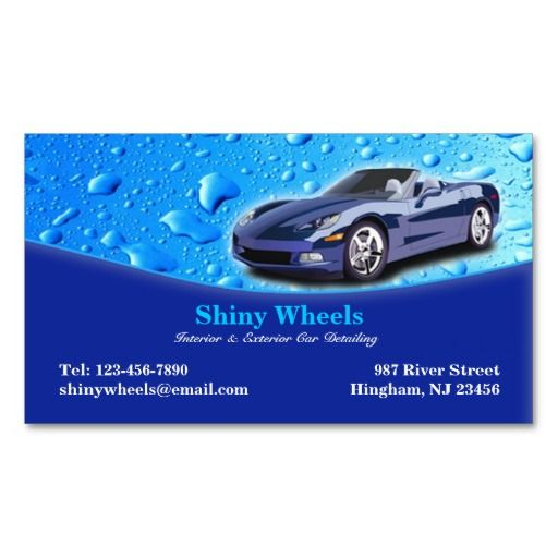 Auto Detailing Business Card Zazzle Com In 2021 Car Detailing Business Card Design Inspiration Cool Business Cards