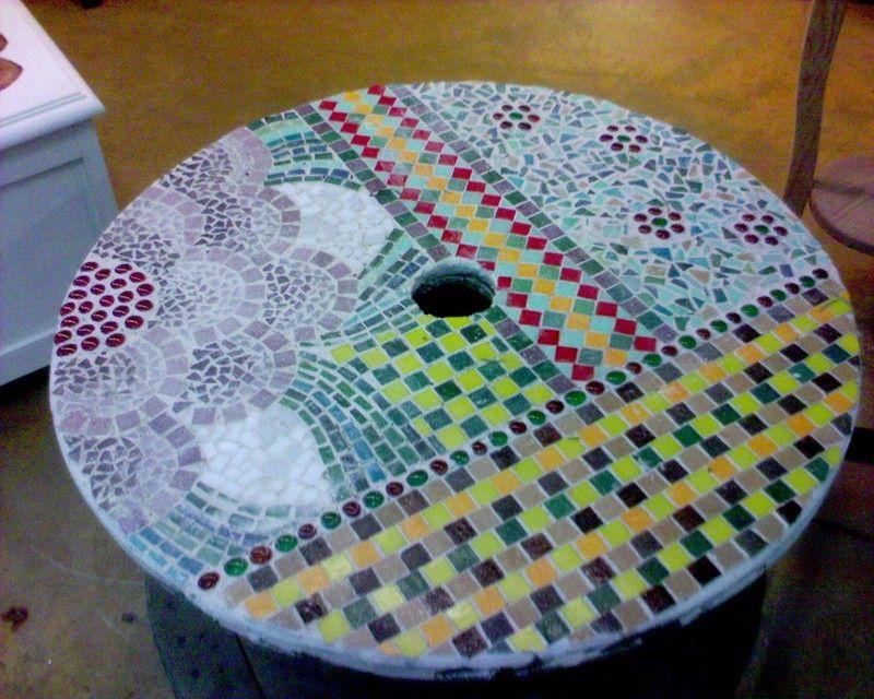 table de jardin l 39 atelier de nadine mosaique mosaic. Black Bedroom Furniture Sets. Home Design Ideas