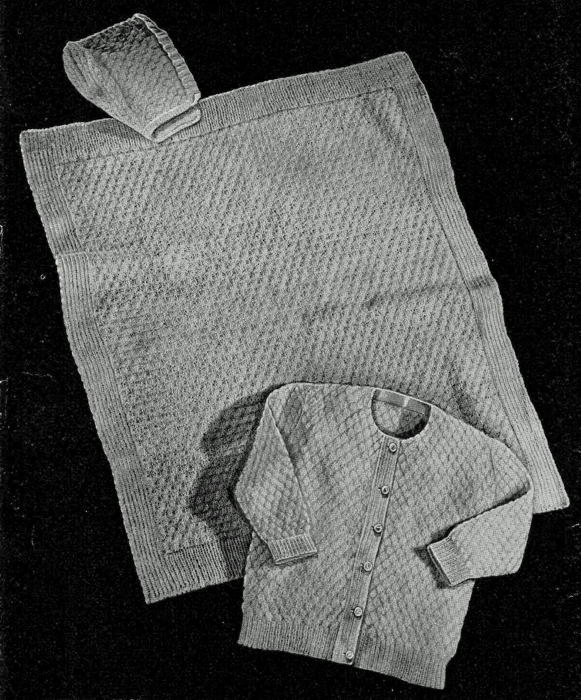 1940s Baby Layette Knitting Pattern 3001, Newborn Gift ...