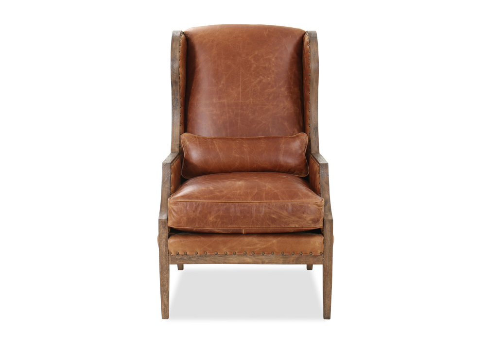 Nailhead Trimmed Leather 28 Club Chair In Chestnut Brown Mathis Brothers Furniture In 2020 Club Chairs Leather Club Chairs Traditional Living Room Furniture #traditional #chairs #for #living #room