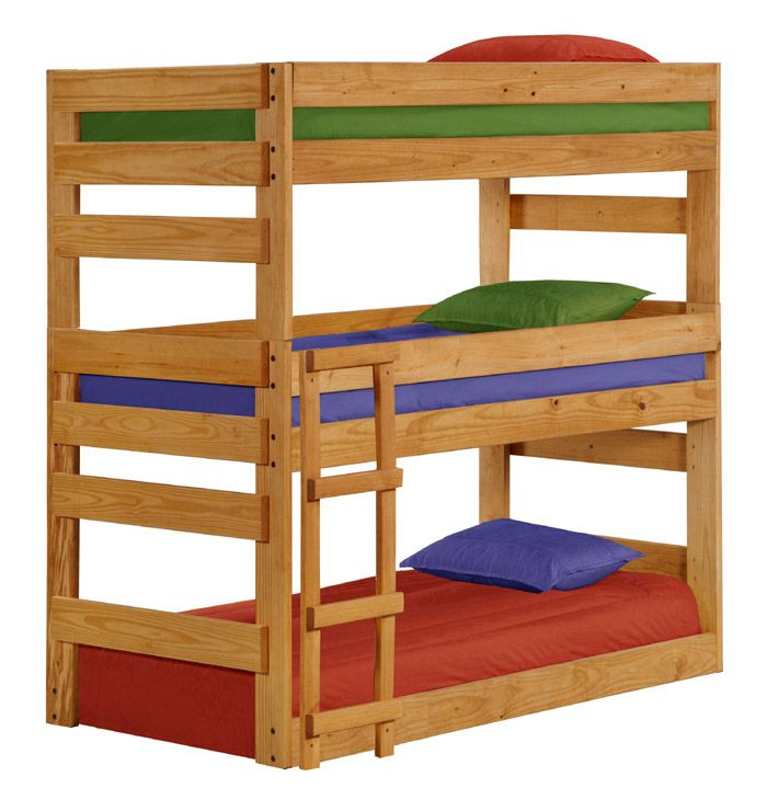 Amanda Snelson Metzler Here Is The Perfect Bed For You If Anna White Made Plans I Bet We Could Build It Triple Bunk Bed Bunk Beds For Sale Bunk Beds