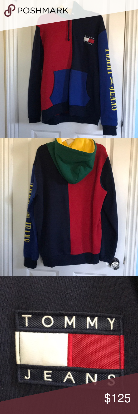 Tommy Jeans Colorblock Hoodie Tommy jeans, Tommy