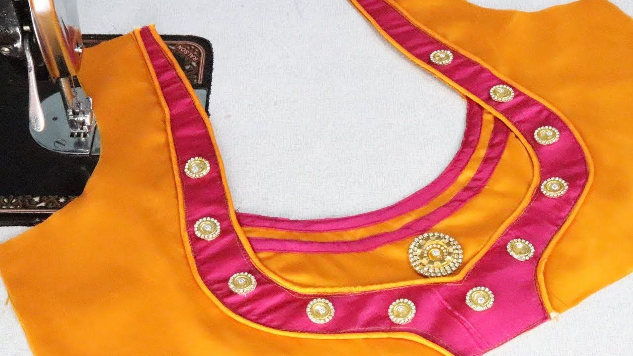 Saree blouse design cutting new model blouse design cutting and sttiching at home   ezee