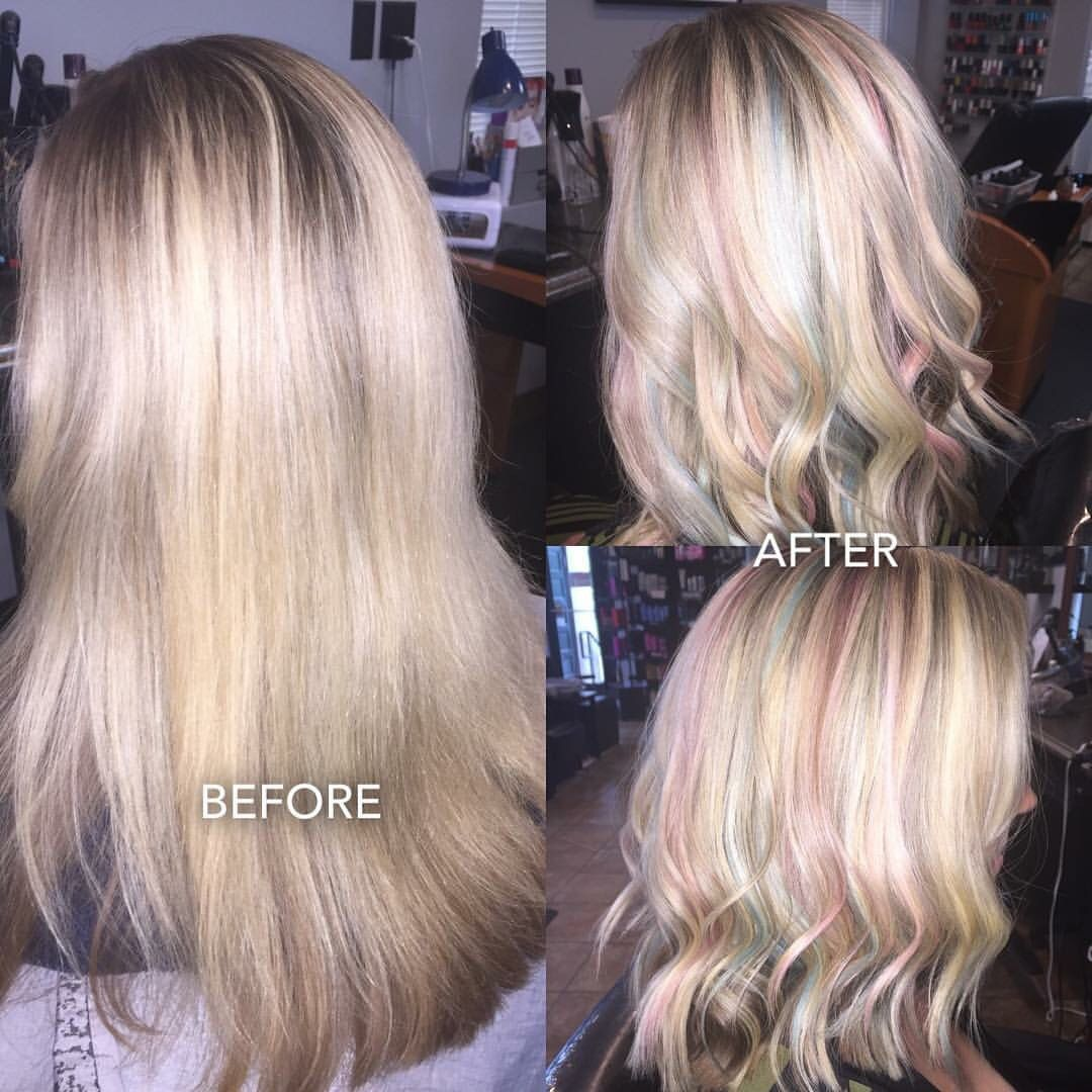 Opal Hair Blonde Hair With Pastel Highlights Style In 2018