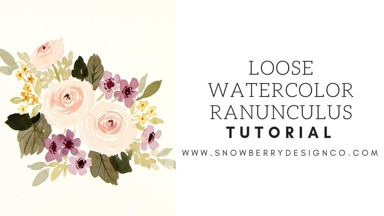 How Do I Paint A Loose Watercolor Ranunculus Bouquet